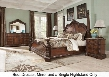 Ledelle Collection 4-Piece Bedroom Set with King Size Poster Bed Dresser Mirror and Nightstand in Dark