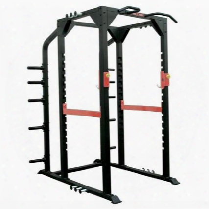 Xm-400-prack-f Commercial Power Rack With Easy Spring Pin Adjsutment 3 Sets Of Heavy Pins And Chin Up Bars In