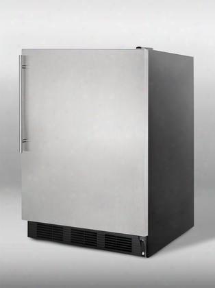 "Al752bsshv 24"" 5.5 Cu. Ft. Compact Ada Compliant All-refrigerator With Automatic Defrost Adjustable Shelves Hidden Evaporator Flat Door Liner Interio Light"
