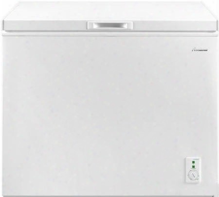"Aqc0902drw 44"" Compact Chest Freezer With 9 Cu. Ft. Capacity 2 Wire Baskets Deep Freeze Technology Top Door Swing And 4 Rollers In"