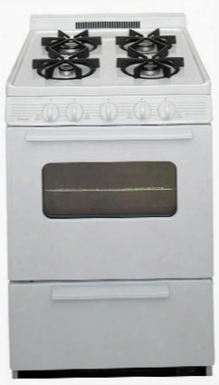"Bjk5x0op White Ada Compliant 24"" Cordless Battery Spark Gas Range With 3 Cu. Ft. Capacity Four Sealed Burners Cast-iron Grates Windowed Oven Door And 1.5"