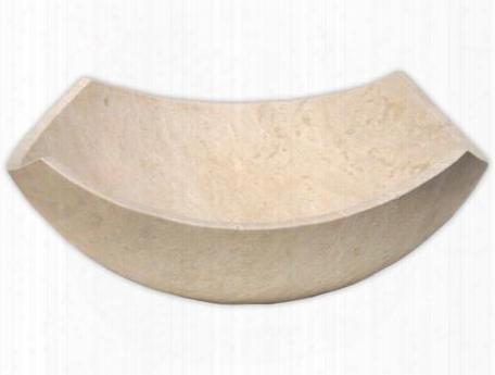 Eb_s027bt-h Arched Edges Bowl Sink - Honed Beige