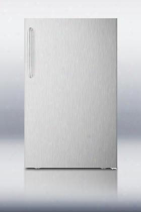 Ff511lxcssada 4.1 Cu. Ft. Ada Compliant Compact Refrigerator With Automatic Defrost Adjustable Shelves Crisper Drawer Interior Light And Adjustable