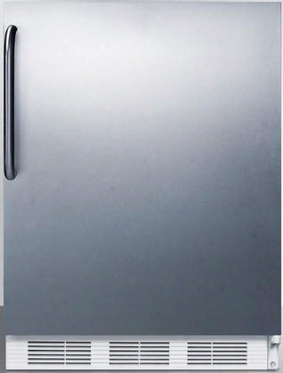 "Ff67sstbada 24"" Ff67ada Series Energy Star Ada Compliant Medical Commercial Freestanding Compact Refrigerator With 5.5 Cu. Ft. Capacity Crisper Interior"