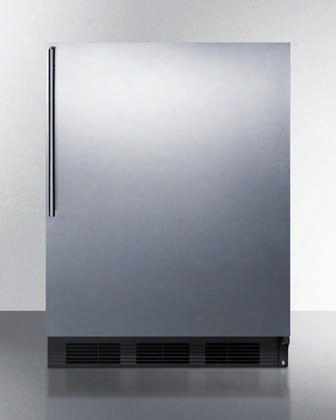 "Ff7bsshvada 24"" Commercially Approved Energy Star Rated & Ada Compliant Compact Refrigerator With 5.5 Cu. Ft. Capacity Automatic Defrost Deep Shelf Space And"
