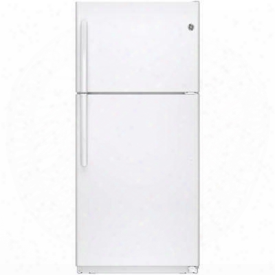 "Gte18ethww 30"" 18.2 Cu. Ft. Enrgy Star Qualified And Ada Compliant Frost-free Top Freezer Refrigerator With Upfront Temperature Controls Snack Drawer"