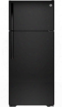 "Gts18gthbb 28"" Top Freezer Refrigerator With 17.5 Cu. Ft. Capacity Upfront Temperature Controls Adjustable Spillproof Glass Shelves Snack Drawer And"