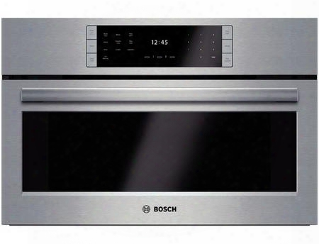 """Hslp451uc 30"""" Steam Convection Oven With 1.4 Cu. Ft. Capacity Steeltouch Buttons Steam Assist Clean Genuine Euro Convection And One Halogen Light In"""