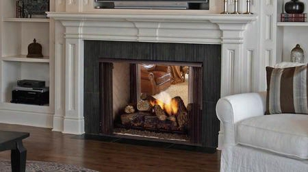 """Lstf36 Lo-rider Designer 36"""" Vent Free Firebox With True Masonry Look Zero Clearance Csa Design And Large Viewing"""