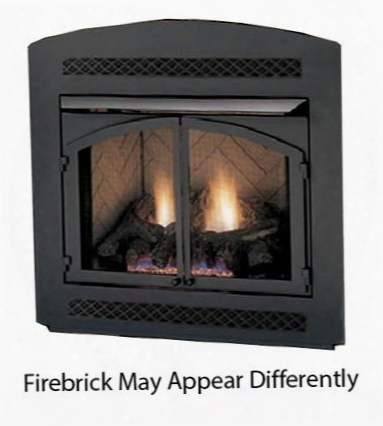 """Mcuf42d-r 42"""" Magnum Vent Free Firebox With Herringbone Firebrick Radiant Design Csa Design And Large Viewing"""