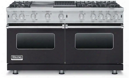 "Professional 5 Series Vgcc5606gqgglp 60"" Liquid Propane Range With 6 Sealed Burners Surespark Ignition System And Varisimmer Setting In Graphite"