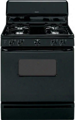 "Rgb526dehbb 30"" Freestanding Gas Range With 4.8 Cu. Ft. Standard Clean Oven Standard Grates And 4 Sealed All Purpose Burners In:"