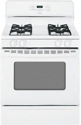"Rgb780dehww 30"" Wide Freestanding Gas Range With 4.8 Cu. Ft. Self-clean Oven Heavy-duty Steel Grates And Sealed 12 500 Btu And Simmer Burners In:"