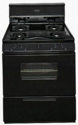 "Smk240bp Black 30"" Electronic Spark Gas Range With 3.9 Cu. Ft. Capacity Four Sealed Burners Heavy-duty Continuous Cast-iron Grates And 10"" Tempered Glass"