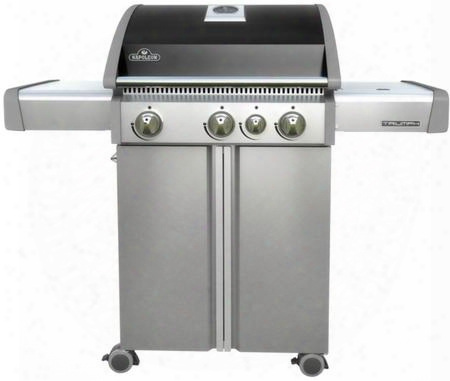 "T410sbnk 51"" Triumph 410 Series Freestanding Natural Gas Grill With 3 Staknless Steel Burners Range Side Burner 550 Sq. In. Cooking Surface Accu-probe"