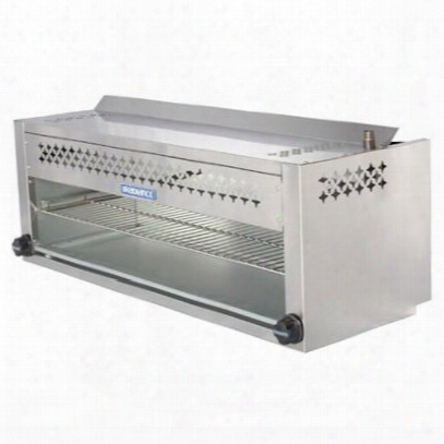 """Tacm48 48"""" Cheesemelter With Stainless Steel Construction Rolling Out Grid Removable Grease Pan Individual Gas Controls 5 Locking Position Ahd Adjustable"""