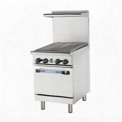 """Tar24rb 24"""" Range With Heavy Gauge Welded Frame 24"""" Radiant Broiler Stainless Steel Construction 1 Standard Oven Full Size Crumb Tray And Adjustable Oven"""