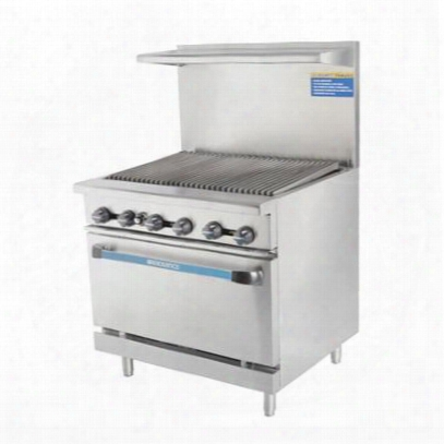 "Tar36rb 36"" Range With Heavy Gauge Welded Frame 36"" Radiant Broiler Stainless Steel Construction 1 Standard Oven Full Size Crumb Tray And Adjustable Oven"
