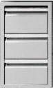 "TESD193B 19"" Triple Storage Drawer with 100 lbs Capacity and Full Extension Slides in Stainless"
