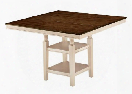 "Whitesburg D583-32 54"" Square Dining Room Counter Extension Table With Tapered Legs Two-tone Finish And Extension"