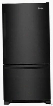 "Wrb329dmbb 30"" Energy Star Bottom Freezer Refrigerator With 18.7 Cu. Ft. Capacity Led Lighting Spillguard Glass Shelves Freshflow Produce Preserver And Ice"