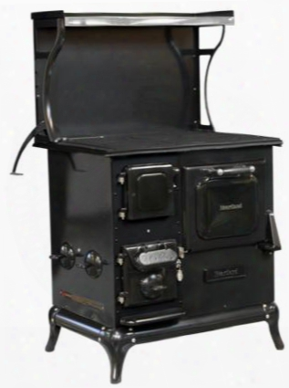2612000blk Blackwood Wood Burning Cookstove With 1.7 Cu. Ft. Oven Capacity In