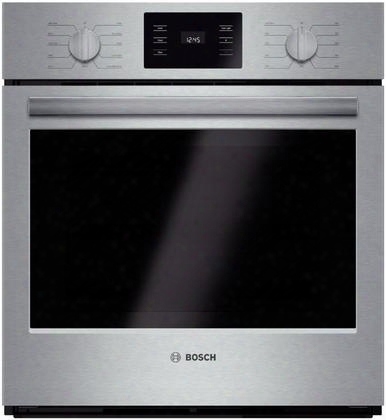 "500 Series Hbn5451uc 27"" Electric Single Wall Oven With 4.1 Cu. Ft. Capacity Genuine European Convection Ecoclean 2-hour Self-clean Cycle Heavy-dutg Metal"