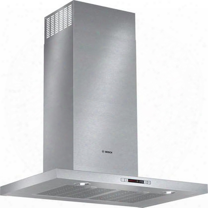 "500 Series Hcb50651uc 30"" Box Canopy Chimney Hood With 600 Cfm Centrifugal Integrated Blower Four Speed Touch Controls With Lcd Display And Dishwasher Safe"