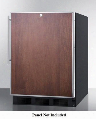 """Al752lblbifr 24"""" Compact All-refrigerator With 5.5 Cu. Ft. Adjustable Glass Shelves Automatic Defrost Ada Compliant Black Cabinet Pro Handle And Factory"""
