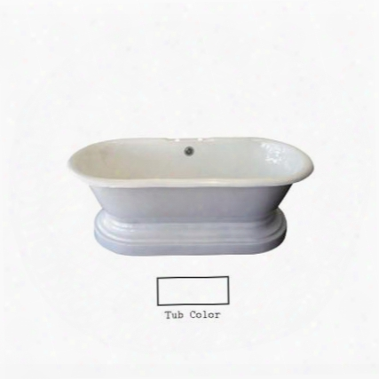 Ctdrhb-wh Duet Cast Iron Double Roll Tub Wh W/base 67 7