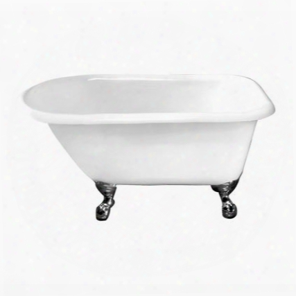 Ctrntd49-wh-wh Almena Cast Iron Roll Top 48 Wh Wh Ball Feet No