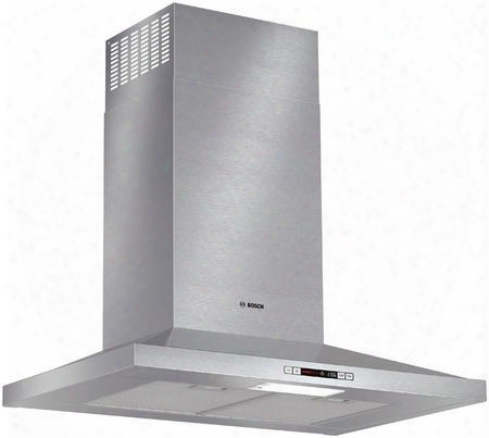 "Hcp30e51uc 30"" Wide Energy Star Series Pyramid Canopy Chimney Hood 300 Cfm Centrifugal Integrated Blower Three Speed Touch Controls With Lcd Display"