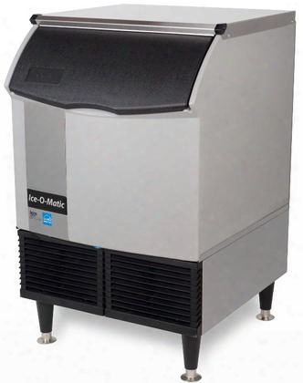 Iceu220hw Self-contained Half Cube Ice Mwchine With Water Condensing Unit Integrated Storage Superior Construction Cuber Evaporator Harvest Assist And
