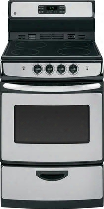 "Ja624rnss 24"" Freestanring Electric Range With 3 Cu. Ft. Capacity 2 Oven Racks 4 Elements Self Clean Function And Delay Bake In Stainless"
