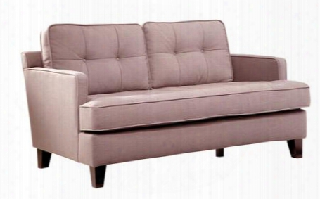 Lc21512br Eden Loveseat With Button-tufting Detail Soft Chenille Fabric And Tailored With Crisp Piping In