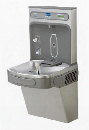 Lzs8wsvrlk Ezh2o Wall Mount Drinking Fountain And Bottle Filling Station With Vandal Resistant Bubbler Filter Glass Filler And Sanitary No Touch Sensor And
