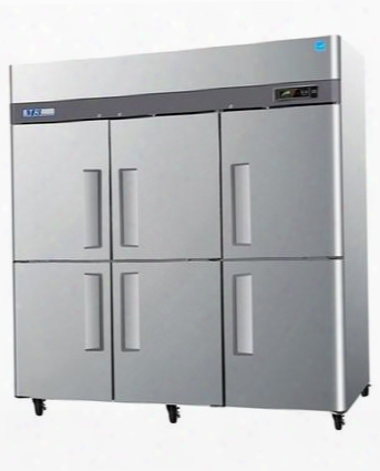 M3f726 72 Cu.ft M3 Series Freezer With 2 Solid Half Doors Digital Temperature Control System Hot Gas Condensate System Efficient Refrigeration System And