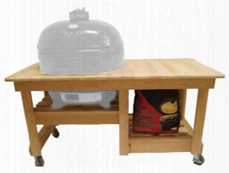 Pr614 Unfinished Cypress Counter Top Table And Ceramic Shoes Included For Oval