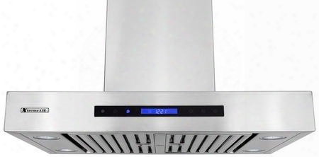 "Pro-x Px10-u48 48"" Under Cabinet Range Hood With 900 Cfm Touch Sensitive Lcd Electronic Control Panel Remote Control Baffle Filters With Grease Drain Tunnel"