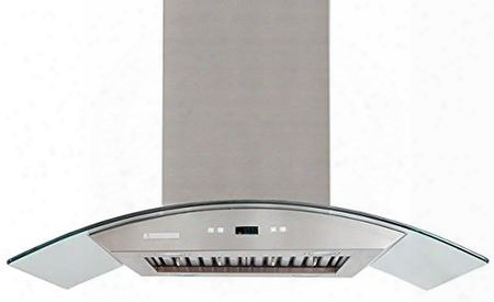 "Px07-i48 48"" Island Ducted Range Hood With 900 Cfm Energy Efficient Blue Led Lighting 4 Speed Touch Screen Electronic Control Stainless Steel Filters And"