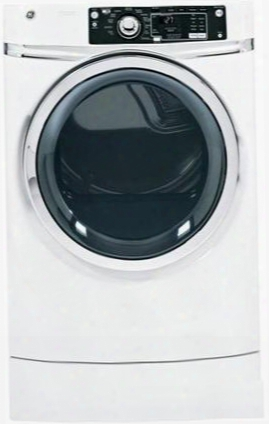 "Rightheight Design Gfdr270ghww 28"" Front-load Gas Dryer With 8.1 Cu. Ft. Capacity 12 Dry Cycles 5 Heat Selections Steam Refresh Steam Dewrinkle He Sensor"