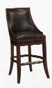 "111137 30"" Galileo Series Stool with Navajo Finished Wooden Frame and Bonded Leather Upholstery in"