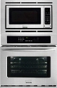 "Gallery FGMC2765PF Series 27"" Wide Combination Wall Oven With 3.8 Cu. Ft. True Keep Warm Setting in Smudge-Proof Stainless"