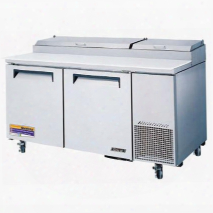 Tpr67sd 20 Cu.ft Pizza Prep Table With Extra Deep Cutting Board Stainless Shelving Insulated An Cover Excellent Cooling System And Stainless Steel Cabinet