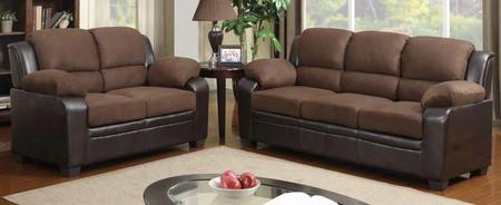 U880018kd-mf-slch Three Piece Living Room Set: Sofa Loveseat And Chair With Microfiber/polyurethane Upholstery In