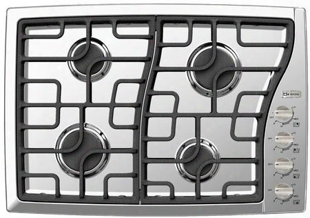 "Vectgms304ss 30"" Side Control Gas Cooktop With 4 Sealed Burners 15 000 Btu Power Burner Continuous Cast Iron Grates Cast-iron Burner Caps And Stainless"