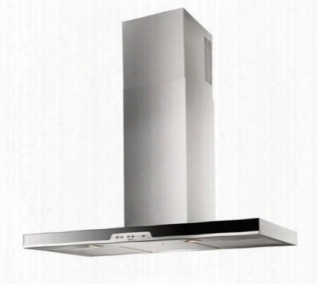 "Wc34e90sb 36"" Eclisse Wall Mount Chimney Hood With Heat Sentry Mesh Grease Filters Clean Filter Reminder Electronic Pushbutton Controls And Led Lighting:"