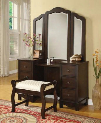 0655206553 Annapolis Vanity And Vanity Trifold Mirror In