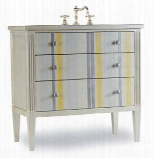 112227553539 Seaside Vanity With Drawer Pulls In Satin Nickel Constructed Of Hardwood Solids And Veneers And Two Drawers For Storage In White