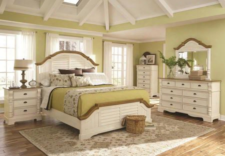 202880q6p Oleta 6 Piece Bedroom Set With Queen Panel Bed Chest Dresser Mirror And Two